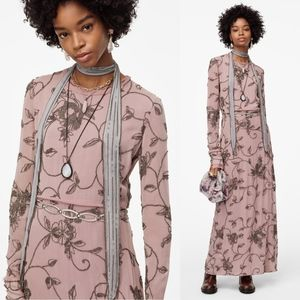 Zara Limited edition long dress with applique